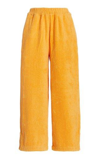 Capri Cotton-Terry Pants