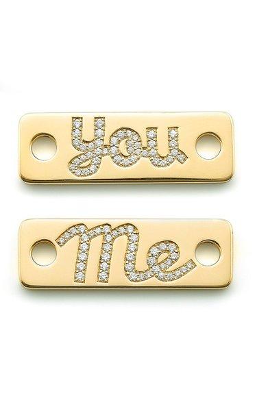 """18K Yellow Gold & Diamond """"Me You"""" Identity Token"""
