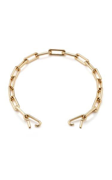 18K Yellow Gold Short Identity Necklace