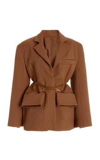 Le Soco Belted Wool Jacket