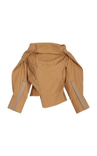 Le Haut Oversized Cropped Cotton-Blend Top