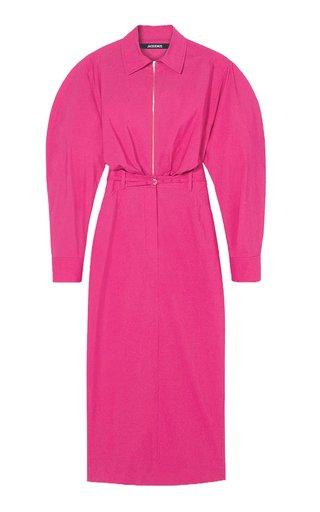La Robe Uzco Cotton-Blend Midi Dress