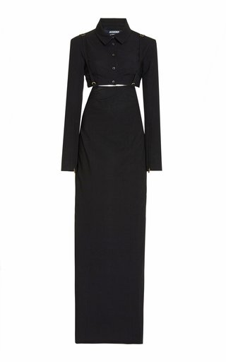 Le Draio Cutout Stretch-Jersey Maxi Dress