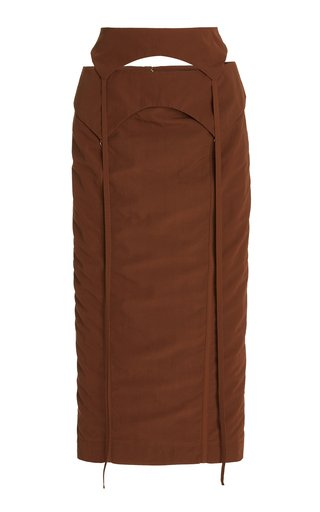 La Draio Woven Midi Skirt