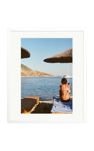 Large Lone Woman Framed Photography Print
