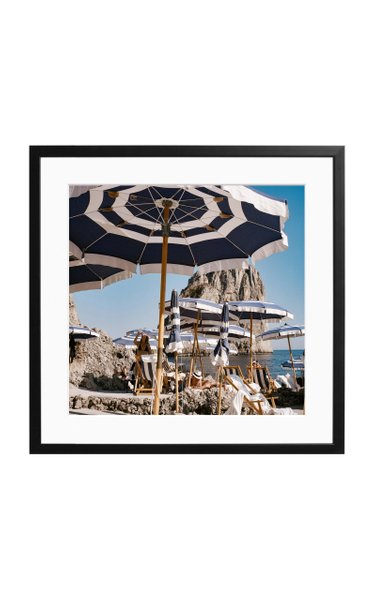 Large Fontelina Beach Club Framed Photography Print