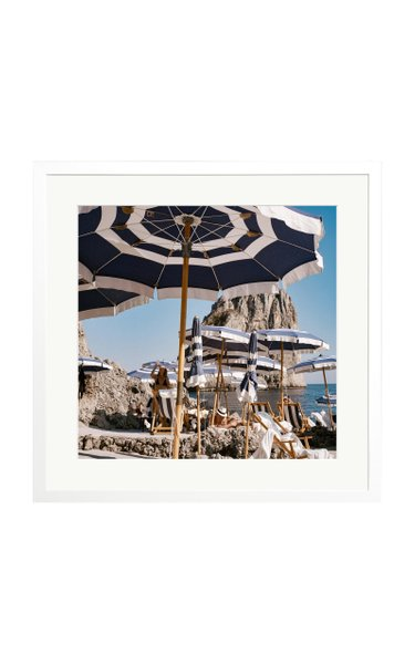 Large Fontelina Beach Club Framed Photography Print