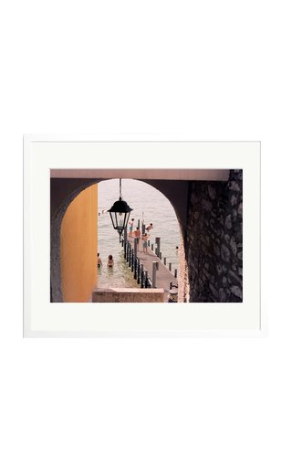 Large Lake Como Swimmers Framed Photography Print