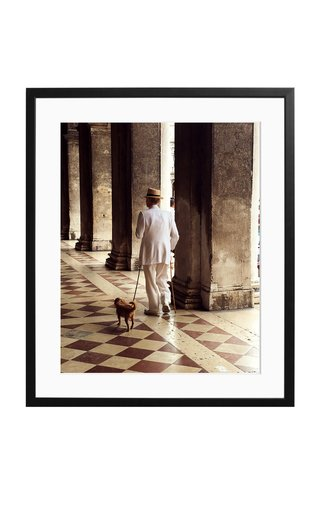 Large A Venetian in White Framed Photography Print
