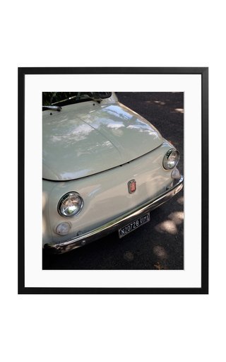 Large Fiat 500 Targa Roma Framed Photography Print