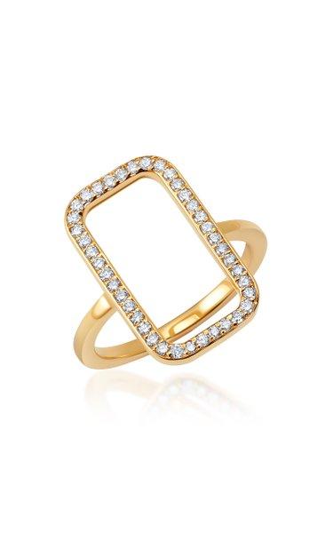 New York 14K Yellow Gold Diamond Ring