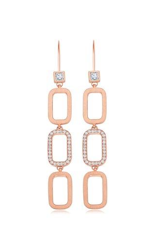Paris 14K Rose Gold Diamond Earrings