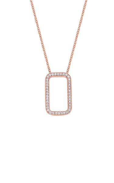 New York 14K Rose Gold Diamond Necklace
