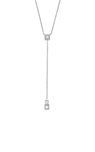 Frosted Ice 18K White Gold Diamond Necklace