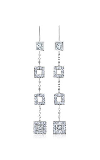 Frosted Ice 18K White Gold Diamond Earrings