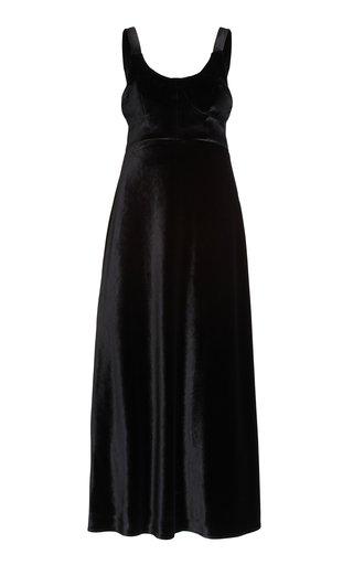 Esme Corseted Velvet Maxi Dress