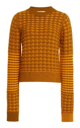 Printed Wool-Cotton Sweater