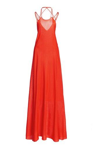 Open Back Knit Maxi Dress