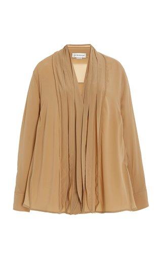 Drape-Detailed Silk Shirt