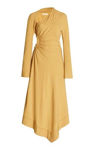 Mabel Chain-Detailed Cutout Crepe Midi Dress