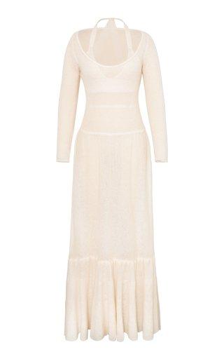 Alessia Layered Wool-Blend Maxi Dress