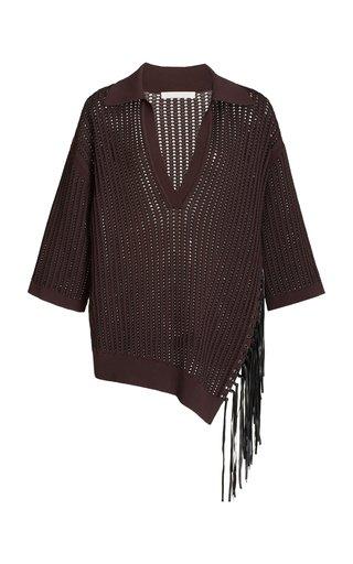 Melina Oversized Fringed Knit Top