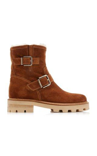 Youth II Shearling-Lined Suede Ankle Boots