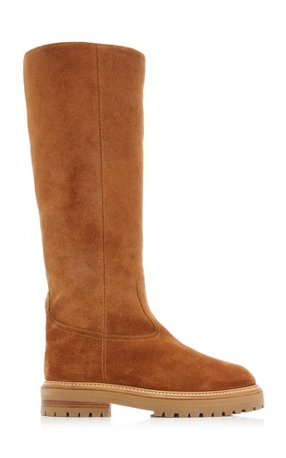 Yomi Shearling-Lined Suede Knee Boots