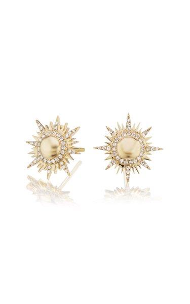 Il Sole 18K Yellow Gold Diamond Earrings