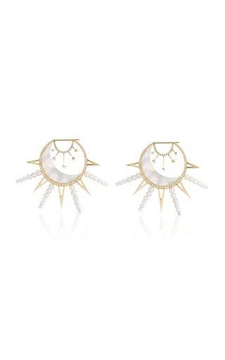 La Luna 18K Yellow Gold Multi-Stone Earrings