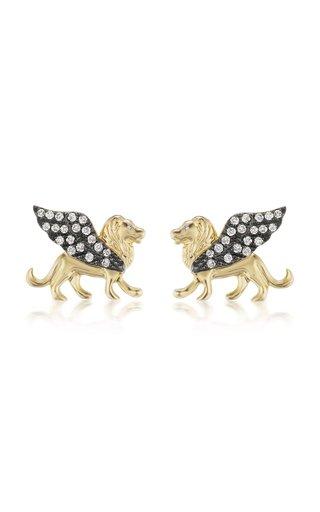 Il Leone 18K Yellow Gold Diamond Earrings