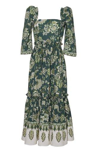 Bluehill Printed Cotton Poplin Midi Dress