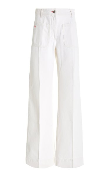 Alina Rigid High-Rise Flared-Leg Jeans