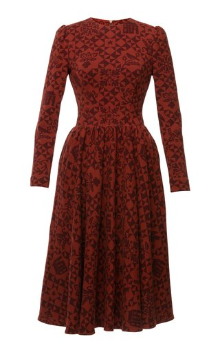 Judy Printed Cotton-Jersey Dress