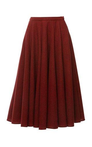 Daydream Woven Plaid Full Midi Skirt