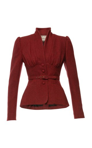 Love Letter Belted Wool Jacket
