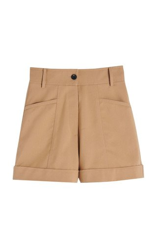 Cuffed Cotton Utility Shorts