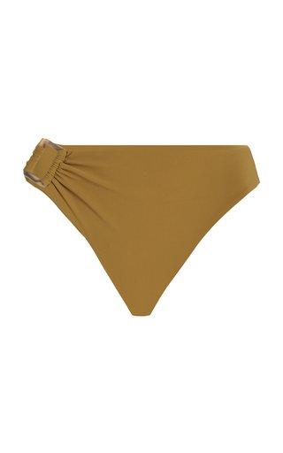 The Asymmetric Tortoise High-Waist Bikini Bottom