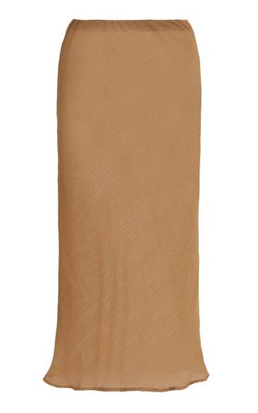 The Rey Crinkled Chiffon Midi Skirt