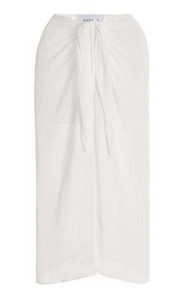The Wrap Chiffon Midi Skirt