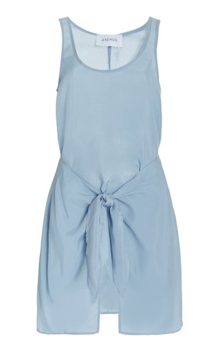 The D.K. Wrap-Effect Woven Mini Dress