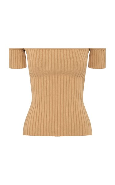 Melodie Ribbed Cotton-Blend Top