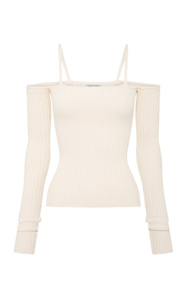 Bonnie Ribbed-Knit Cotton-Blend Top