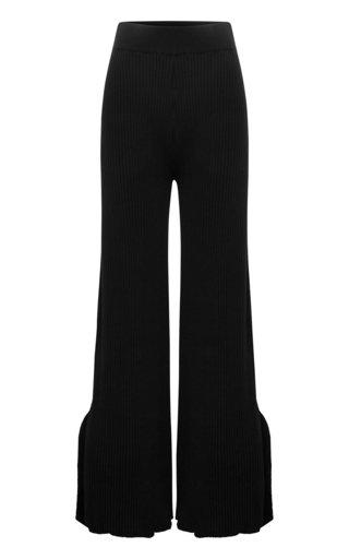Jordon Ribbed Cotton Wide-Leg Pants