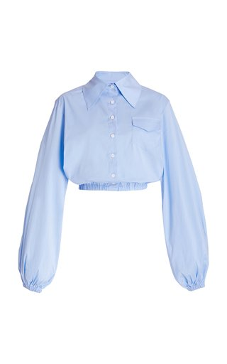 Soraya Cotton-Blend Cropped Shirt