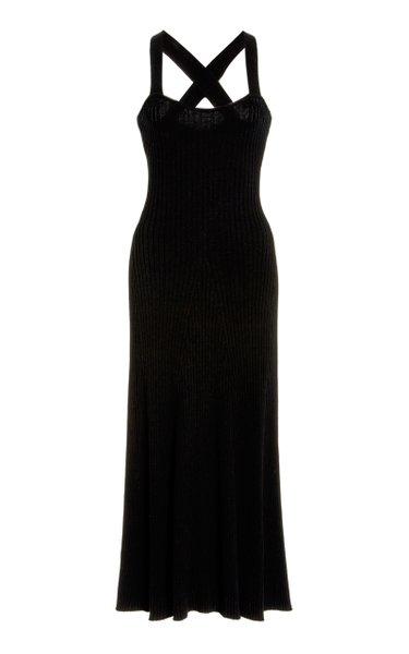 Mikayla Crossed-Back Cotton Midi Dress