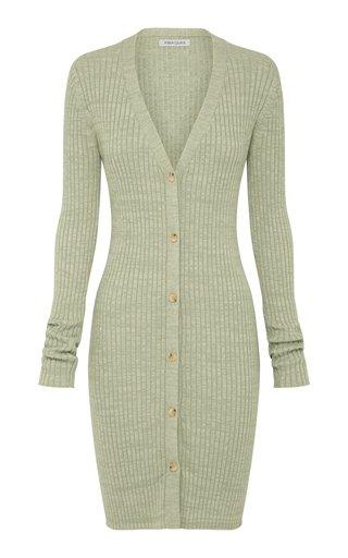 Misha Ribbed-Knit Cotton Midi Dress
