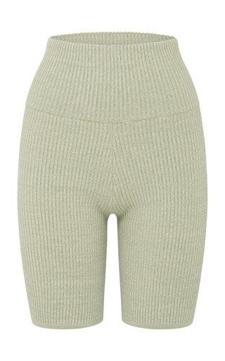 Bobby Ribbed-Knit Cotton-Blend Shorts