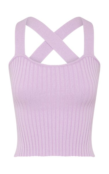 Linnea Ribbed-Knit Cotton Top