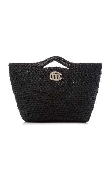 Exclusive Christy Crocheted Raffia Tote Bag